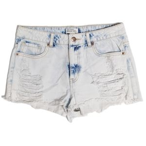 Forever 21 Distressed Cutoff Jean Shorts Light 27